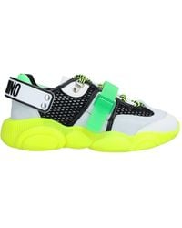 Moschino 30mm Mesh & Suede Trainers - Green
