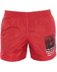 Off-White c/o Virgil Abloh Swimming Trunks - Red