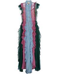 Gucci Vestido a media pierna - Azul
