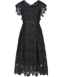No Secrets 3/4 Length Dress - Black