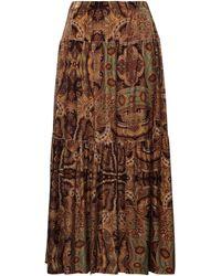 Irie Wash Midi Skirt - Brown