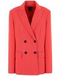 Donna Karan Suit Jacket - Red