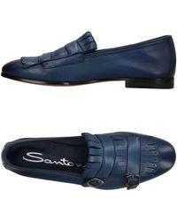 Santoni Mocassins - Bleu