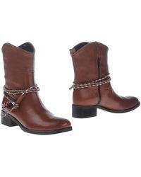 Un Deux Trois Ankle Boots - Brown