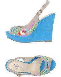Blue Les Copains Sandals - Gray