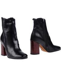 Fabbrica dei Colli Ankle Boots - Black