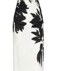 Dries Van Noten 3/4 Length Skirt - White