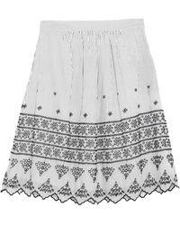 Caractere Midi Skirt - White