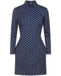 Marcia Short Dress - Blue