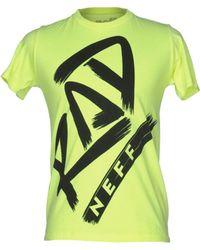 Neff T-shirt - Yellow