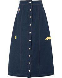 Être Cécile Jupe en jean - Bleu
