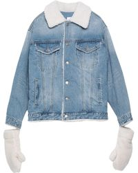 SJYP Manteau en jean - Bleu