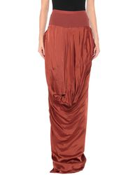 Rick Owens Long Skirt - Red