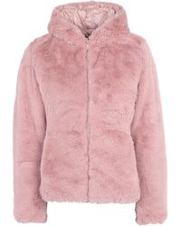 Save The Duck Teddy Coat - Pink