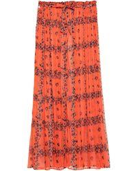 Manila Grace Long Skirt - Orange