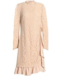 Mikael Aghal Knee-length Dress - Natural