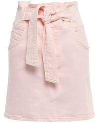 Rebecca Minkoff Denim Skirt - Pink