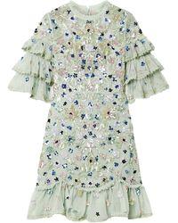 Needle & Thread Short Dress - Green