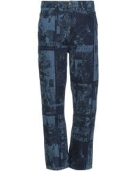 Daily Paper Denim Trousers - Blue