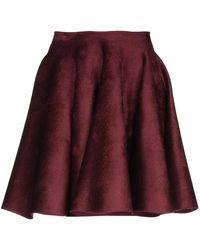 Alaïa Knee Length Skirt - Purple