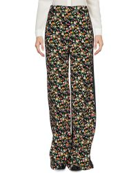 Tory Burch - Folly Floral-print Crepe Wide-leg Trousers - Lyst