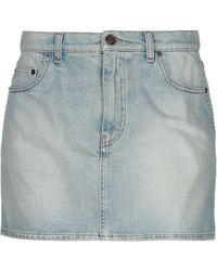 Saint Laurent Gonna jeans - Blu
