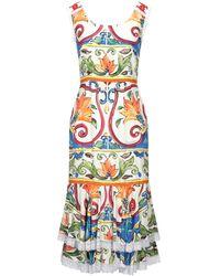 Dolce & Gabbana Vestito al ginocchio - Multicolore