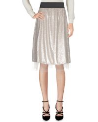 Free People - Knee Length Skirt - Lyst