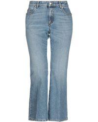 Alexander McQueen Denim Pants - Blue