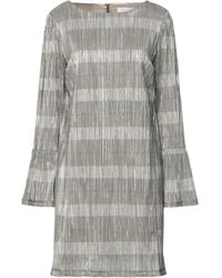 Satine Label Short Dress - Gray