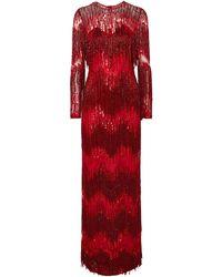 Naeem Khan Vestido largo - Rojo