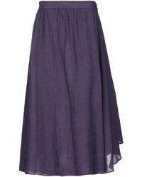 Barena Long Skirt - Purple