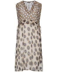 Maliparmi Short Dress - Brown
