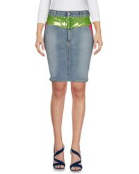Jeremy Scott - Denim Skirt - Lyst