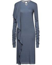 Rick Owens Lilies Vestido midi - Azul