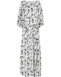 Just Female Long Dress - White