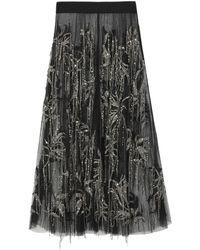 Amen Long Skirt - Black