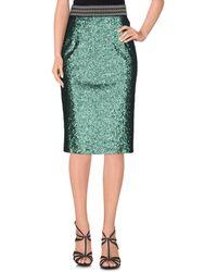 Shirtaporter Midi Skirt - Green