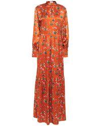 Seren London Long Dress - Orange