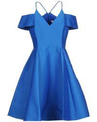 Halston Short Dress - Blue