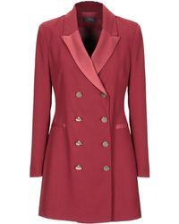 Soallure Overcoat - Red