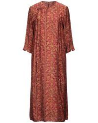 Uma Wang Robe mi-longue - Rouge