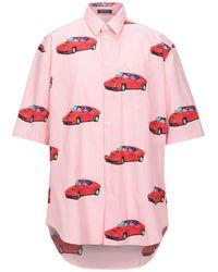 Versace Bedrucktes Kurzarmhemd - Pink