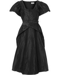 Preen By Thornton Bregazzi Midi Dress - Black