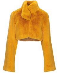 Patrizia Pepe Teddy Coat - Yellow