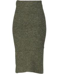 Pieces Midi Skirt - Green