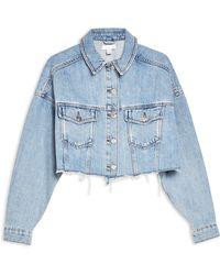 TOPSHOP Denim Outerwear - Blue