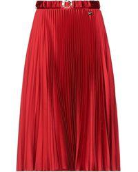 Class Roberto Cavalli Midi Skirt - Red