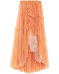 Annarita N. Long Skirt - Orange
