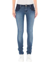 Frankie Morello Denim Trousers - Blue